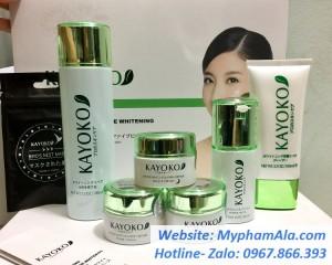 Bộ mỹ phẩm KAYOKO trị nám,tàn nhang trắng da cao cấp số một Nhật Bản ( Bộ 6)