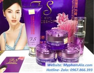 Bộ mỹ phẩm trị nám, tàn nhang, dưỡng trắng da The Face Shop Tím (5in1)
