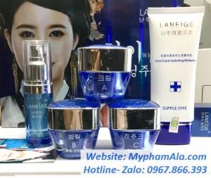 Bộ mỹ phẩm trị nám tàn nhang trắng da cao cấp Laneige Xanh Hàn Quốc (5in1)