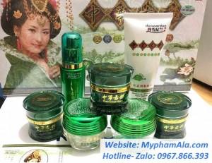 Bộ mỹ phẩm hoàng cung xanh danxuenilan 7in1 dưỡng trắng, trị nám hiệu quả